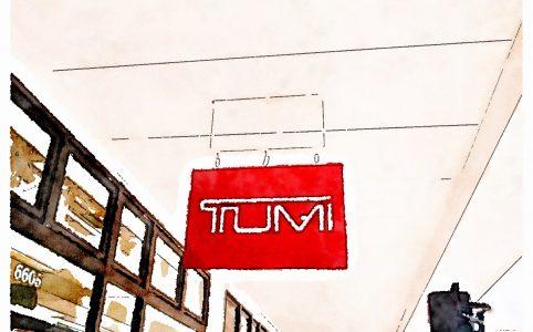 トゥミ アウトレット店 吊り看板